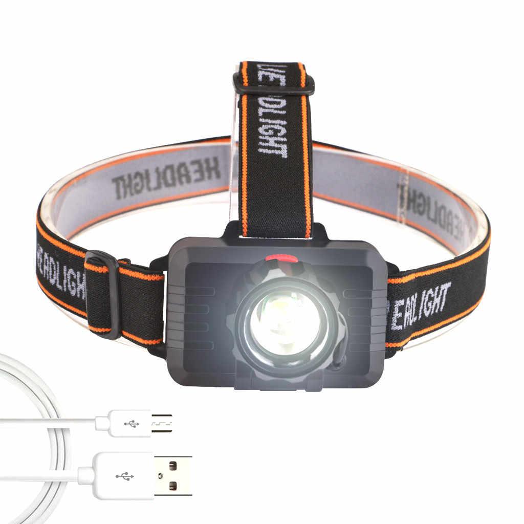 MINI Scheinwerfer XPE+COB USB Wiederaufladbarer Bewegungssensor LED Scheinwerfer
