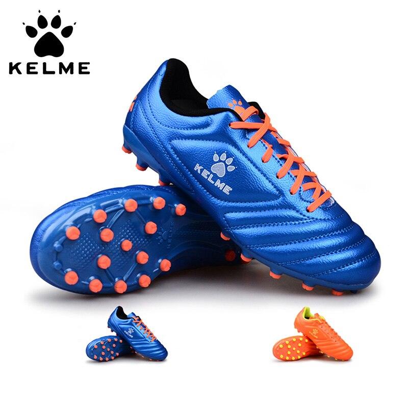 KELME Brand Professional Football Boots Soccer Shoes Cleats Original AG Artificial Sneakers Men Soccer Futsals Kids 68831126