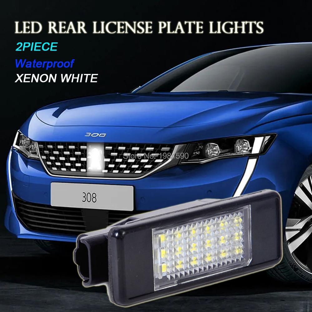 2x Peugeot Partner Bright Xenon White LED Number Plate Upgrade Light Bulbs
