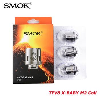 Oryginalny SMOK TFV8 X-BABY M2 głowica cewki 0 25ohm dla SMOK 2ml i 4ml TFV8 X-BABY atomizer zbiornika kij X8 zestaw #8217 s postawy polityczne w V8 X-BABY Q2 tanie i dobre opinie X-BABY M2 Q2 Coil DS Dual TFV8 X-BABY TANK 3 pieces Coil 0 4ohm