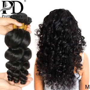 Malaysian Hair Weave Bundles Loose Wave 100% Human Hair 28 30 Inch 1 3 4 Bundles Natural Color Remy Hair Weave Extension