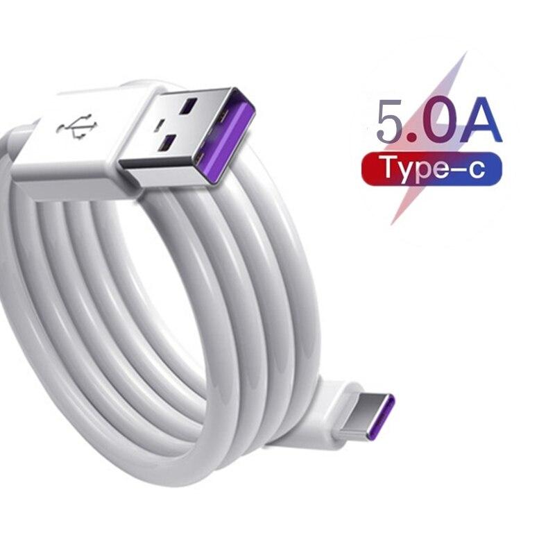 Оригинальный кабель 5A Type-C для быстрой зарядки Redmi 10X Huawei P20 Pro Mats 20 Pro USB Honor V10 Type USB C Data