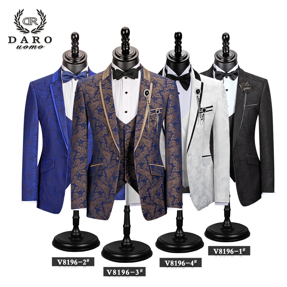 Men Suit Bridegroom Wedding Tuxedo New Style Blazer Pattern Jacket Vest Pant 3 Piece Slim Fit Black Gold White Royalblue Custom 1