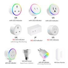 Interrupteur WiFi Mini prise prise prise télécommande sans fil avec minuterie, variateur de lumière LED, maison intelligente Compatible avec Alexa Google