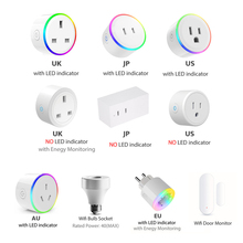 WiFi Switch Mini Socket Plug Wireless Remote Control Outlet with Timer,Dimmer LED Light, Smart Home Compatible with Alexa Google