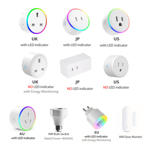 Image 1 - WiFi Switch Mini Socket Plug Wireless Remote Control Outlet with Timer,Dimmer LED Light, Smart Home Compatible with Alexa Google