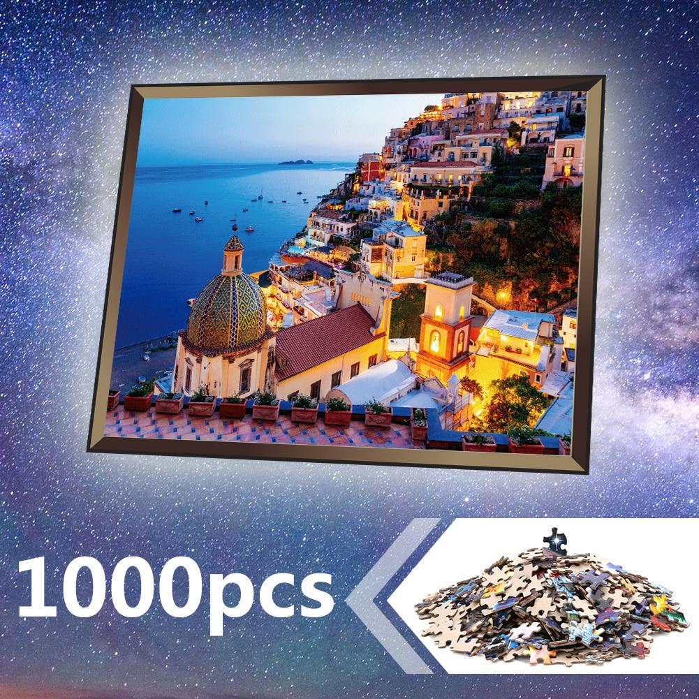 Jigsaw Puzzle 1000 Pieces Assembling Picture Landscape Puzzles Educational Toys For Children Adult Bedroom Home Decoration