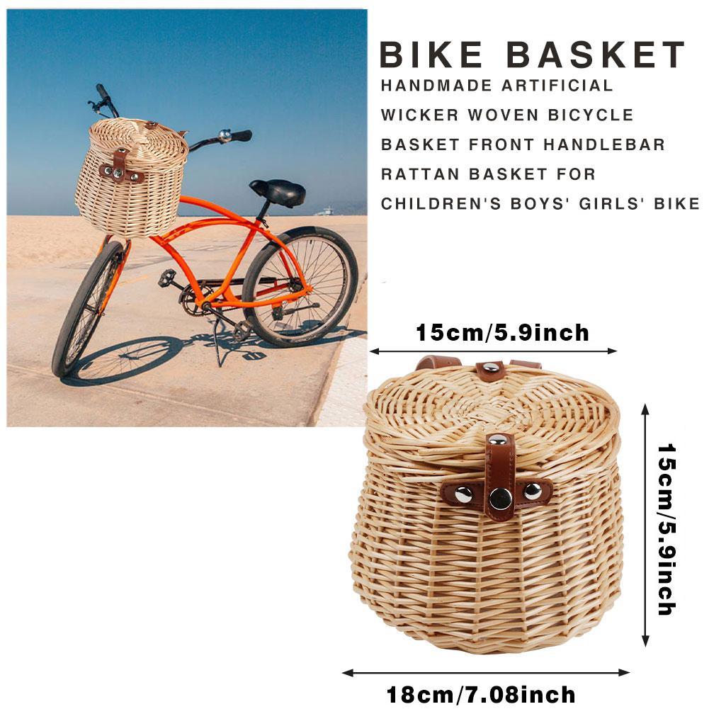 1pc Hanging Bike Basket Front Handlebar Bike Basket for Man Woman Girls