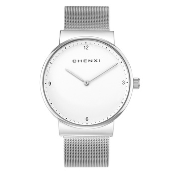 TurnFinger 2020 Popular Top Craft Luxury Quality Ultra-thin Silver Mesh Belt Simple Fashion Beautiful Romantic Couple Watch