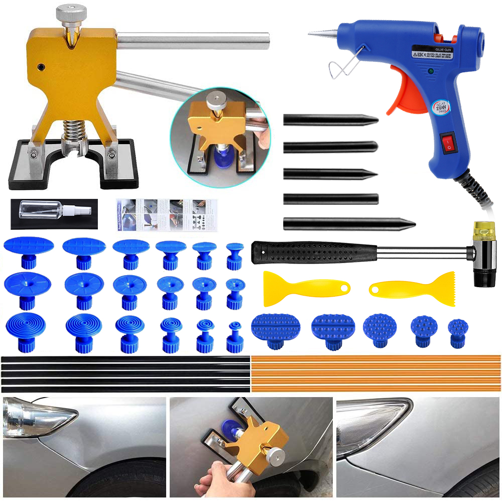 GLISTON Paintless Dent Repair Tool Puller Dent Kit, Pops a Dent Car Dent Removal Kit for Automobile Body Motorcycle Refrigerator image