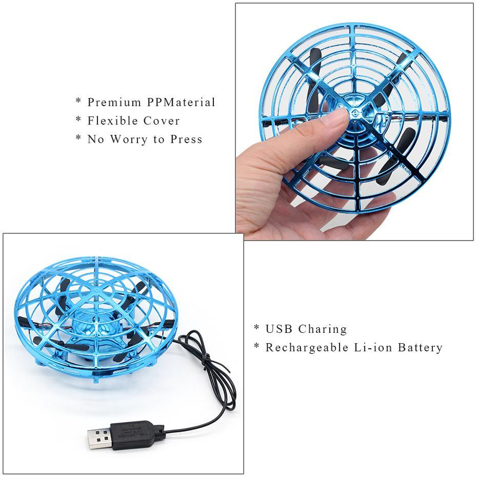 Image 5 - Quadcopter Mini Drone UFO Quadcopter Induction Infrared Light Suspension Flying  Toys Mini RC Drone Children's Gift Figure Toys-in RC Helicopters from Toys & Hobbies