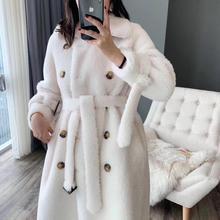 Winter Coat Teddy Faux-Fur Real-Sheep-Fur Woolen Women Jacket Plus-Size Long Fashion