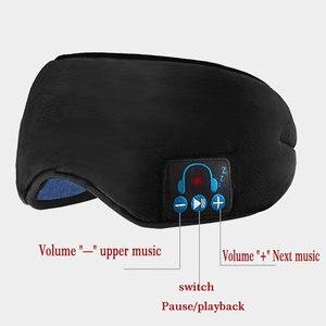 Image 3 - 2020 produttori wireless Bluetooth v5.0 CE cuffia chiamata musica sonno artefatto traspirante sonno maschera per gli occhi cuffia dropship