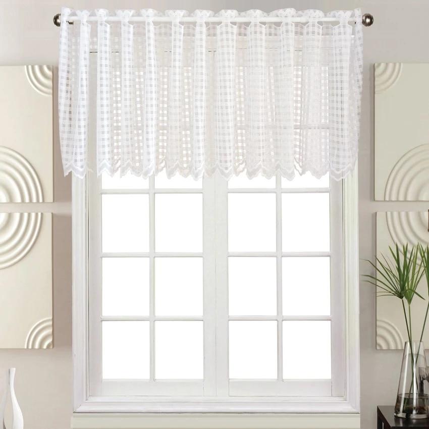 rideau court pas cher pour cuisine fini rideau cantonniere pour fenetre blanc plaid dentelle demi rideau de cuisine pour la maison decorative