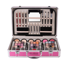 Professional Makeup Set WaterProof Eyeshadow Aluminum Box Mosituizer Lip Gloss Lipstick Lip Gloss Mascara Blush Lip Pencil Brush