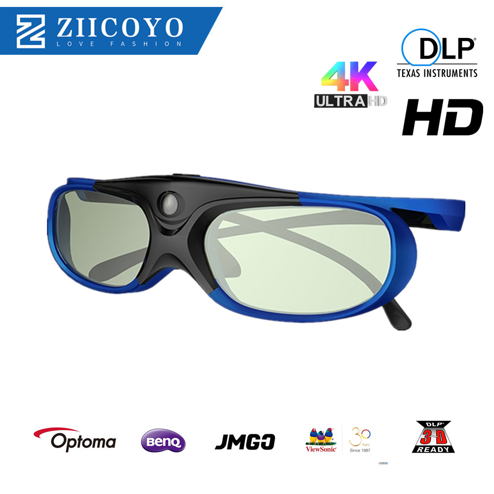 Universal DLP Active Shutter 3D Glasses 96-144Hz For XGIMI Optoma Acer Viewsonic Home Theater Projector 3D TV