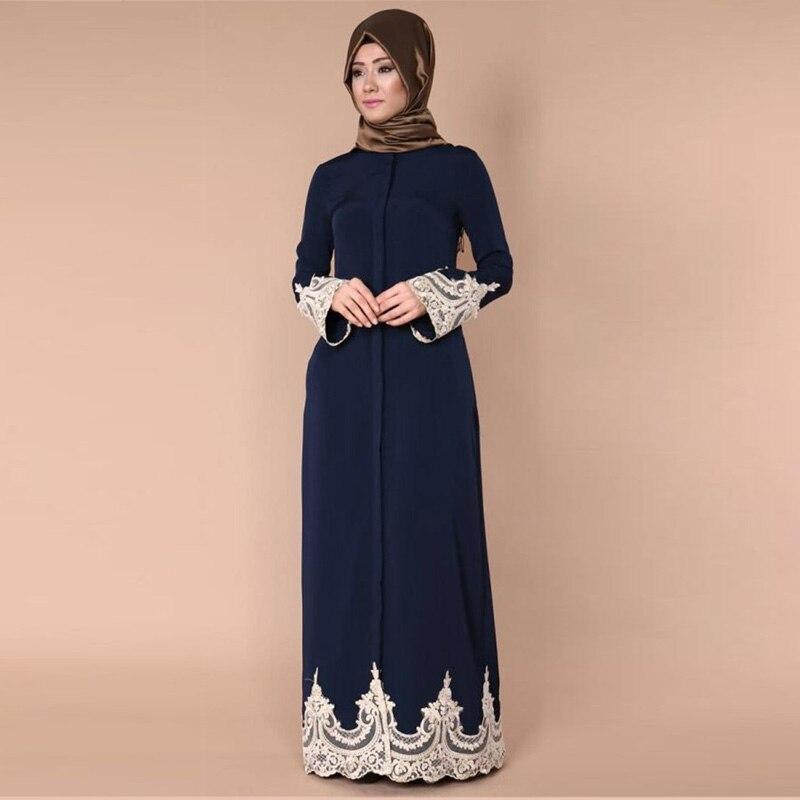 Arab Women Clothes Muslim Female Kebaya Dubai Classy Lace Dress Kaftan