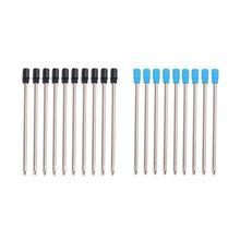 10 шт гелевая ручка Замена заправок 0,5 мм синий черный цвет чернил для школы офиса