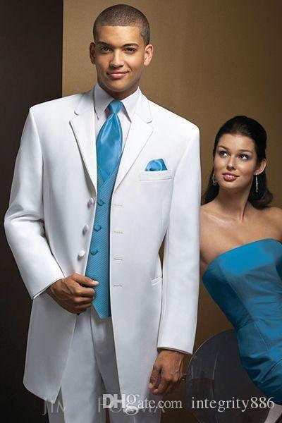 Custom Made Mens Wedding Suits Groom Tuxedos Wedding Tuxedos Groomsmen Suit Best Men Suit Jacket+Pants+Vest