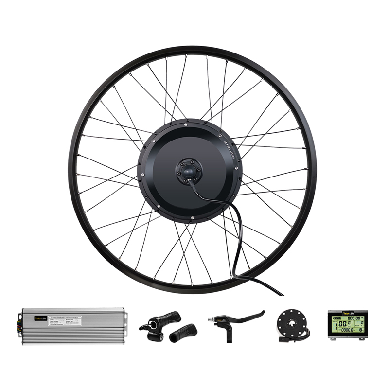 Pasion EBIKE Conversion Kit 26 In Electric Bicycle Conversion Kit 48V 1000W 1500W Rear Hub Motor Wheel 36V 250W 350W 500W Front