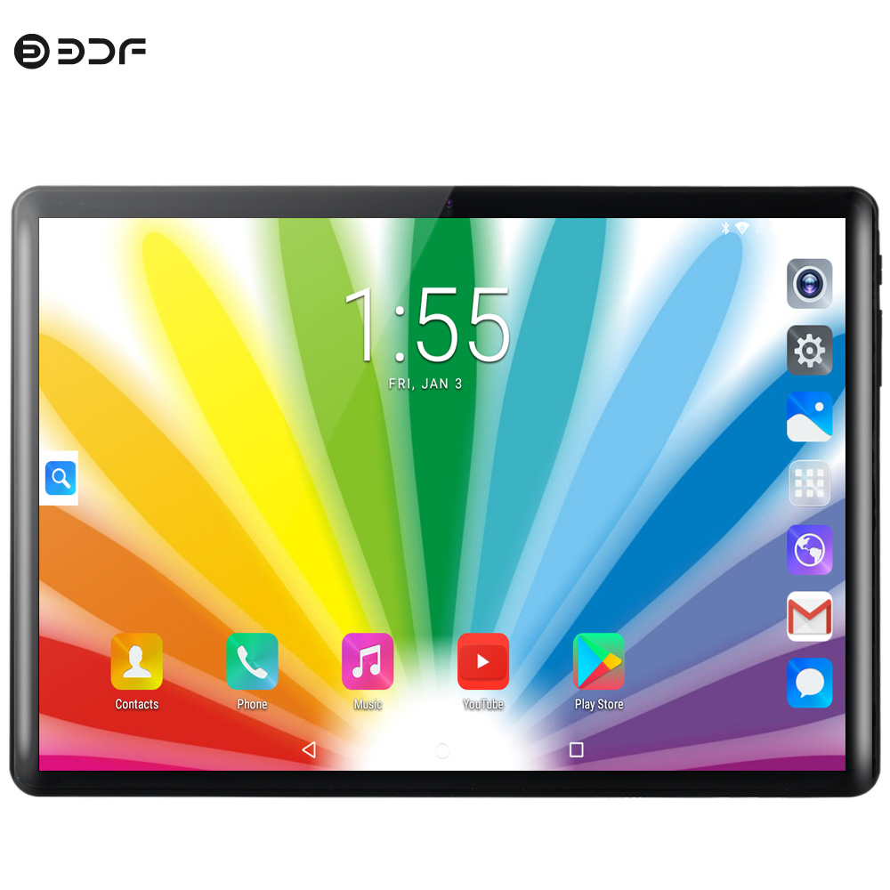 10.1 Inch Android 8.0 Tablet Pc Android Tablet Ten Core 8GB+128GB 3G 4G Phone Call SIM Card WiFi Bluetooth GPS 2.5D Glass Screen