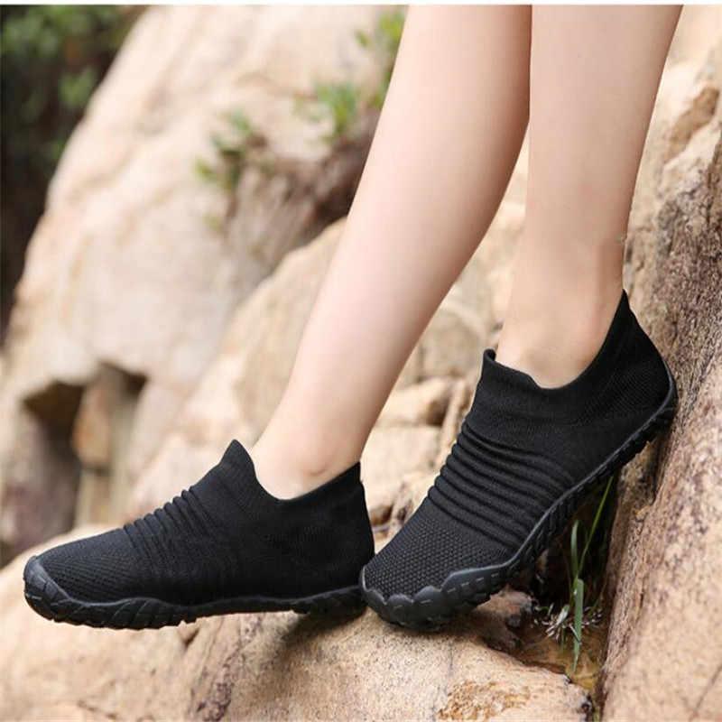 2019 גברים שכשוך במעלה הזרם גרב נעלי לנשים ריצה חוף סניקרס מקורה יוגה ספורט נעל חיצוני טרקים הליכה נעלי בית
