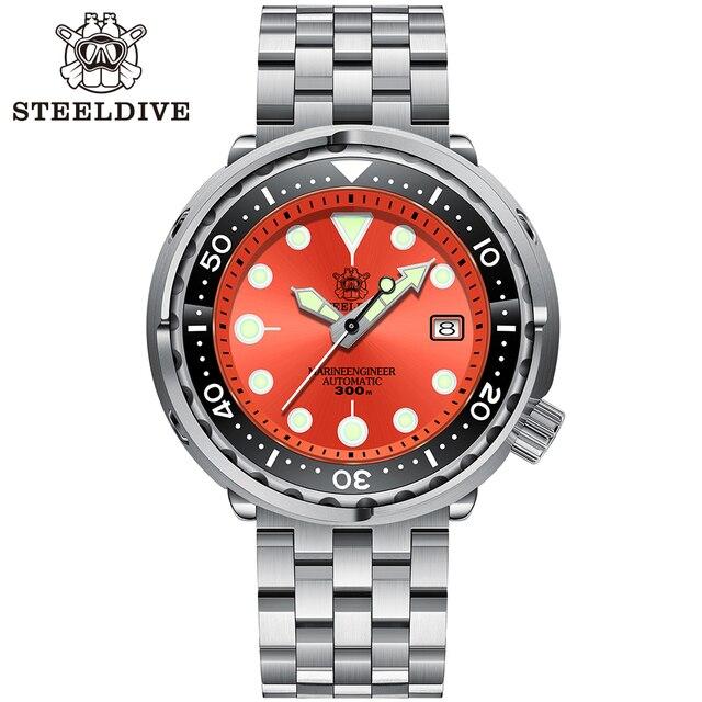 Steeldive SD1975 Black Dial Ceramic bezel 30ATM 300m Waterproof Stainless Steel NH35 Tuna Mens Dive Watch 6