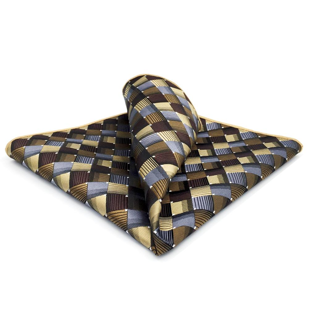 GH03 Multicolor Checkes Mens Pocket Square Fashion Silk Handkerchief Party Groom Hanky