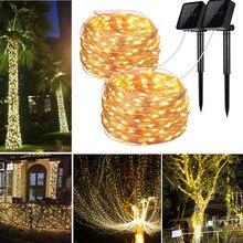 Solar String Fairy Lights 5M 10m 20m 30m LED Waterproof Outdoor Garland Solar Power Lamp Light Christmas For Garden Decoration..