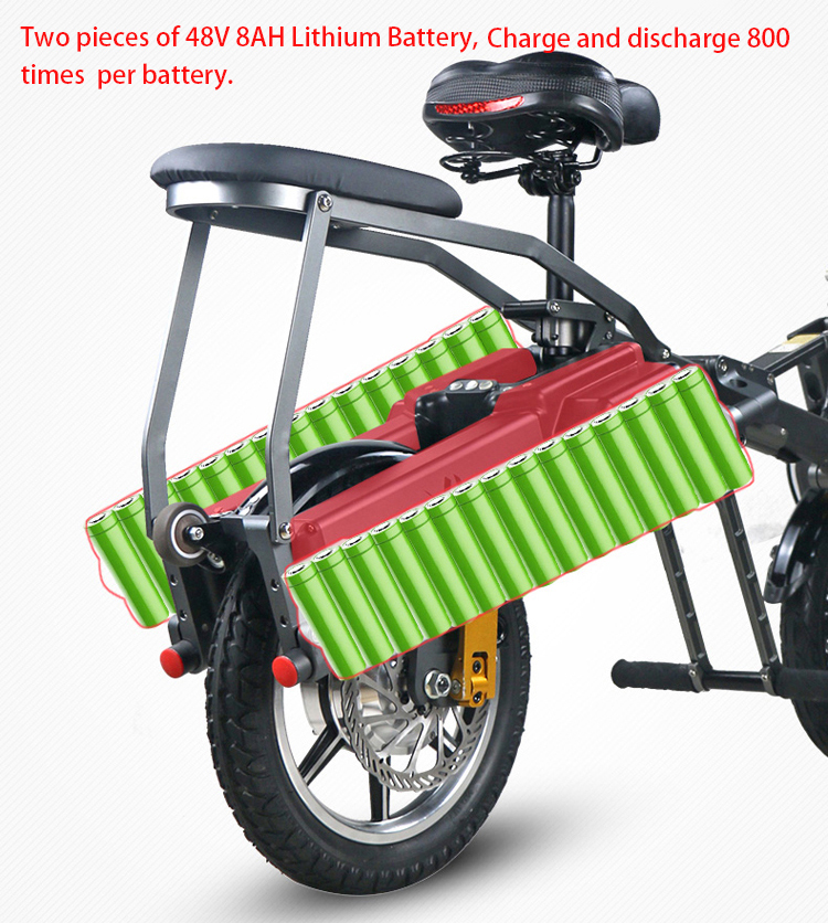 JX003 Chinese 48V 350W folding scooter electric tricycle 3