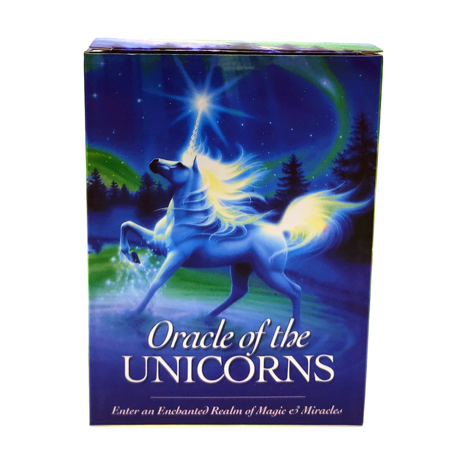 2019  New Full English Unicorn Oracle Cards Deck Mysterious Tarot Cards Guidance -divination Fate Board Game