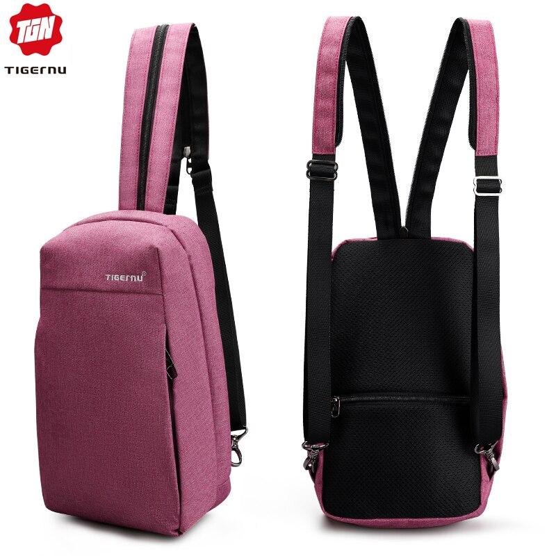 Tigernu Fashion Travel Child Bags Men Chest Bag Multifunctioanal Crossbody Bags Anti Theft Women 9.7