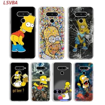 Перейти на Алиэкспресс и купить Силиконовый чехол Homer J. Симпсон для LG W30 W10 V50S V50 V40 V30 K50S K40S K30 K20 Q60 Q8 Q7 Q6 G8 G7 G6 ThinQ чехол для телефона