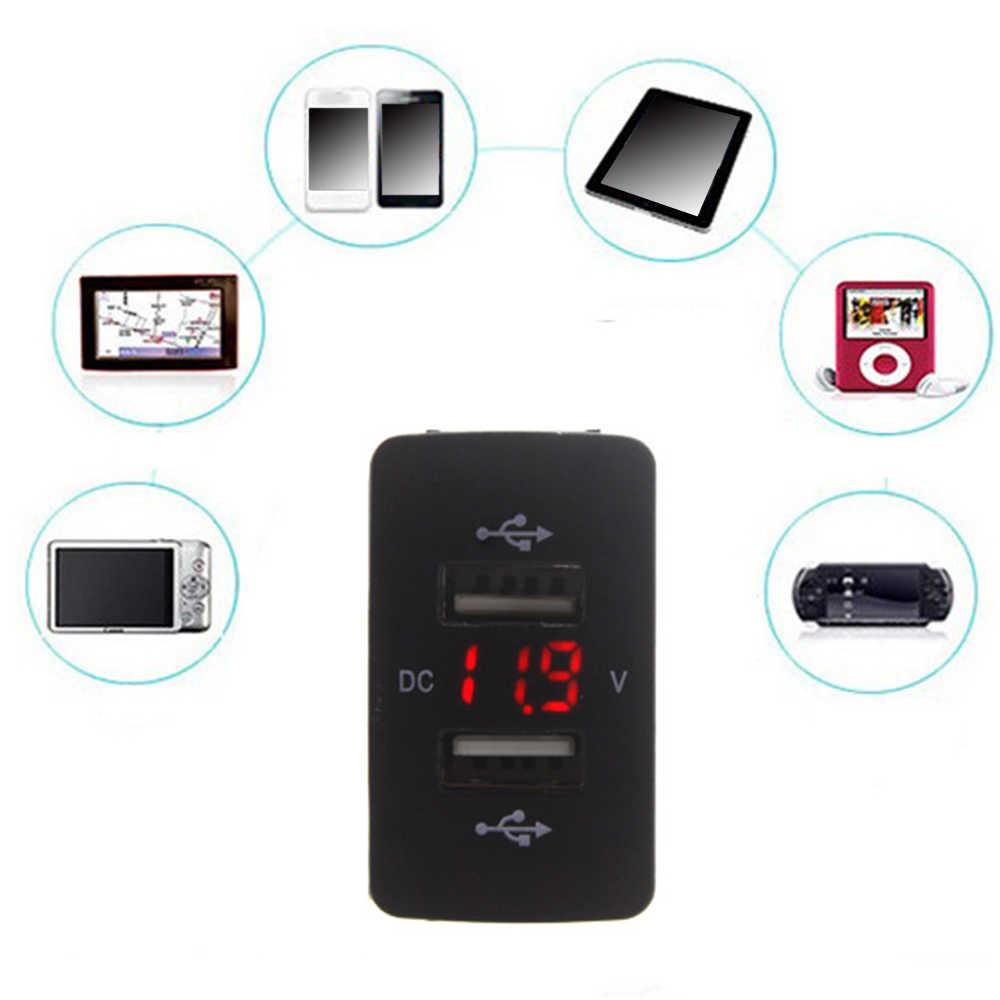 12V 24V Dual USB Car Charger Port Auto Adapter LED Voltmeter Socket Voor Honda CIVIC CROSSTOUR CRV ODYSSEY