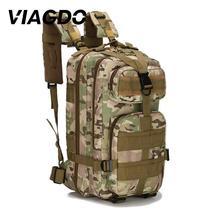 Mochila táctica militar de 25L, 600D, impermeable, Oxford, para acampar al aire libre, mochilas, deportes, senderismo, pesca, fundas de caza