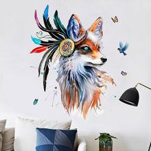 Настенные Стикеры с мультяшными животными домашний декор для
