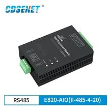 Módulo analógico RS485 E820 AIO(II 485 4 20) para la adquisición de señal, Modbus RTU, 4 20mA, transceptor de datos inalámbrico de 4 canales, módulo de radiofrecuencia
