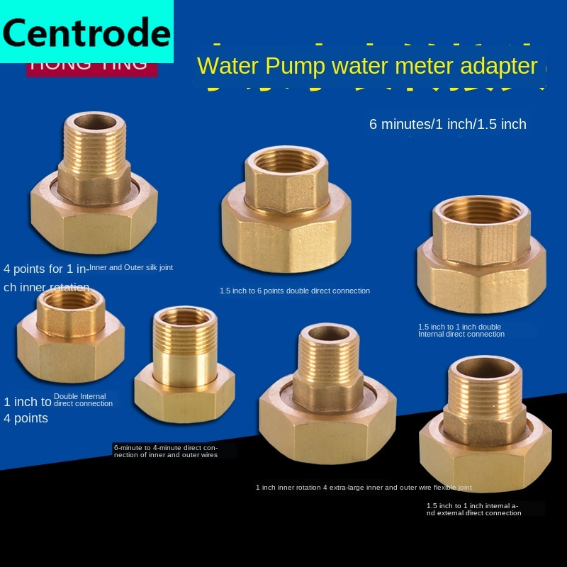 <font><b>3/4</b></font> inch 1 inch 1.5 inch all copper tap water meter pump <font><b>adapter</b></font> <font><b>1/2</b></font> IN inner wire outer teeth double inner wire live joint image