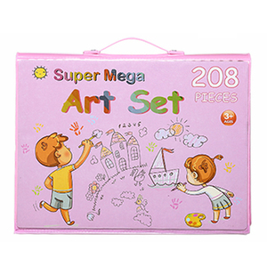 Image 4 - 208 adet boyama çizim seti mum boya renkli kalemler suluboya kalemler çocuk çocuk öğrenci sanatçı sanat seti boya fırçaları