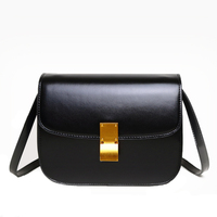 Women Shoulder Bag Adjustable Strap Gift Messenger Small Square Solid Fashion Storage Casual Artificial Leather Retro Style