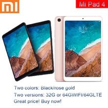 Original Xiaomi Mi Pad 4 32GB/64GB Tablets 4 Snapdragon 660 AIE CPU Tablet 8.0'' 16:10 Screen 13MP Bluetooth 5.0 6000mAh Battery