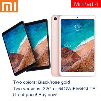 Xiaomi-Tableta Original Mi Pad 4, 32GB/64GB, CPU Snapdragon 660 AIE, pantalla 1610 de 8,0 pulgadas, cámara de 13MP, Bluetooth 5,0, batería de 6000mAh