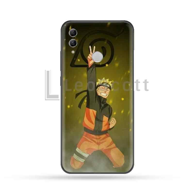 Giappone Anime Naruto Nero Morbido Borsette Cassa Del Telefono Capa Per Huawei Honor 7C 7A 8X 8A 9 10 10i Lite 20 NOVA 3i 3e
