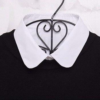 Women Cotton Lace Fake Collar Blouse Vintage Detachable Shirt Collar False Collar Lapel Blouse Top Women Clothes Accessorie 5