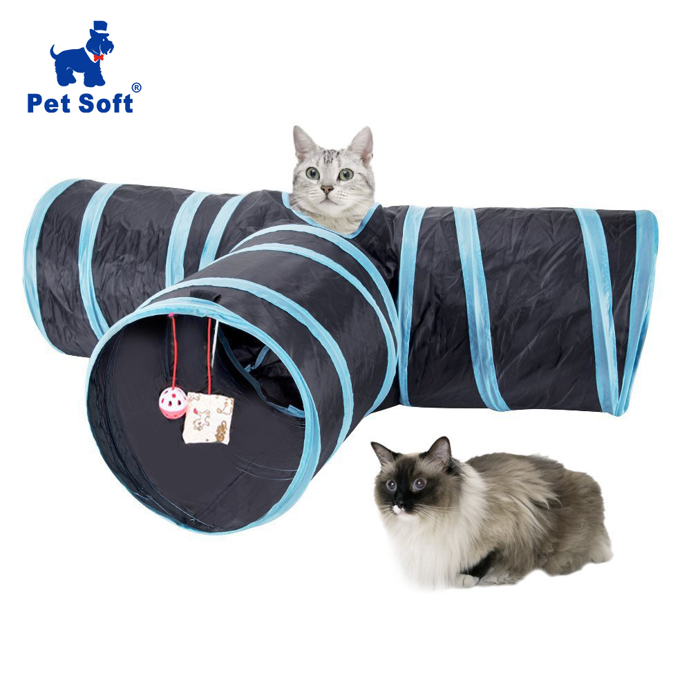 Pet Soft Cat Tunnel Foldable Pet Cat Tunnel Indoor Outdoor Pet Cat Training Toy For Cat