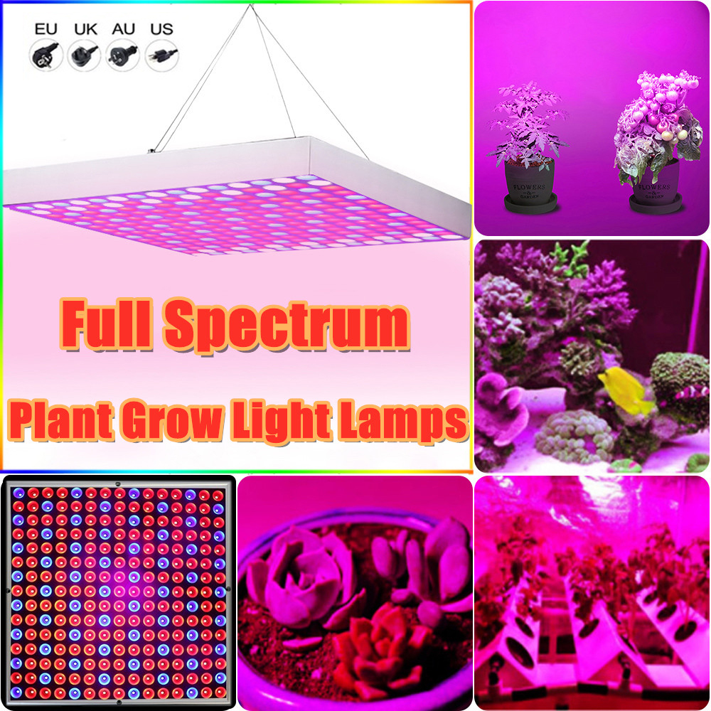 Junejour Plant Growth Lamp Plant Fill Light Lamp 45W/50W 225LED Panel Shell Red Blue Plant Spot Light Ceiling Down Light