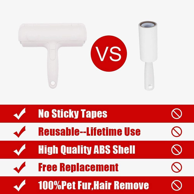 2 Way Pet Hair Remover Roller For Cats And Dogs  4
