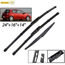 Misima Windshield Windscreen Wiper Blades For Renault Clio 3 MK3 Front Rear Window 2005 2006 2007 2008 2009 2010 2011 2012