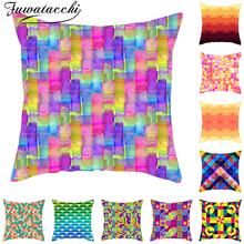 Fuwatacchi Cushion Cover Colorful Geometric Printed Pillow Covers Throw Pillowcases for Home Sofa Decoration Throw Pillow Covers цены