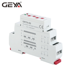 Image 2 - 送料無料 geya GRT8 S 非対称サイクルタイマーリレー spdt 220 v 16A ac/DC12V 240V 電子繰り返しリレー